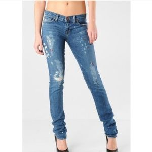 J Brand Low Rise Pencil Leg Jeans in palette